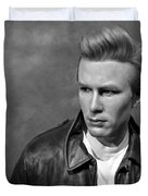 Rebel Without A Cause Bw Duvet Cover by David Dehner - rebel-without-a-cause-bw-david-dehner