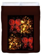 Red And White Wine Collage Duvet Cover by Joan  Minchak