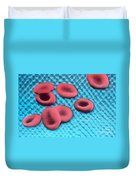 Red Blood Cells, Sem Duvet Cover by Science Source