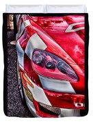 Red Corvette Duvet Cover by Lauri Novak