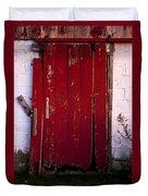 Red Door Duvet Cover by Cale Best
