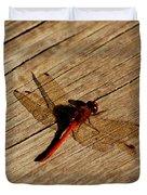 Red Dragon Fly Duvet Cover by LeeAnn McLaneGoetz McLaneGoetzStudioLLCcom