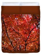Red Leaves Black Branches Duvet Cover by Rich Franco