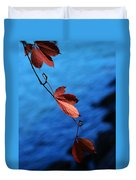 Red Maple Leaves Duvet Cover by Paul Ge