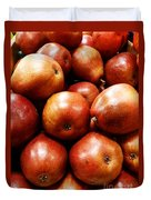 Red Pears Duvet Cover by Methune Hively