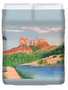 Red Rock Crossing Duvet Cover by Aimee Mouw