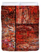 Red Splashes Swishes and Swirls - Abstract Art Duvet Cover by Carol Groenen