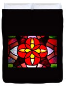 Red Stained Glass Duvet Cover by LeeAnn McLaneGoetz McLaneGoetzStudioLLCcom