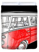 Red Volkswagen Duvet Cover by Cheryl Young