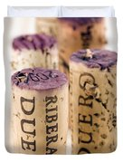 Red Wine Corks From Ribera Del Duero Duvet Cover by Frank Tschakert