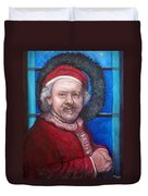 Rembrandt Santa Duvet Cover by Tom Roderick