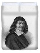 Rene Descartes, French Polymath Duvet Cover by Science Source