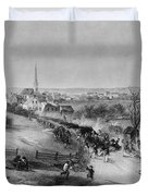 Retreat Of British From Concord Duvet Cover by Photo Researchers