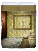 Retro Room Interior Duvet Cover by Setsiri Silapasuwanchai