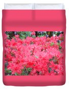 Rhodies Art Prints Pink Rhododendrons Floral Duvet Cover by Baslee Troutman