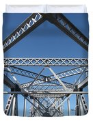 Richmond-san Rafael Bridge In California - 5d19549 Duvet Cover by Wingsdomain Art and Photography