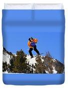Ride Utah Duvet Cover by Christine Till
