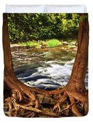 River and trees Duvet Cover by Elena Elisseeva