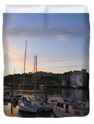 River Suir, From Millenium Plaza Duvet Cover by The Irish Image Collection