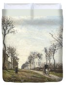Road In Louveciennes Duvet Cover by Camille Pissarro