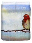 Robin 1 Duvet Cover by Anil Nene