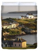 Roches Point Lighthouse In Cork Harbour Duvet Cover by Trish Punch