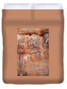Rock Formation At Petra Jordan Duvet Cover by Eva Kaufman