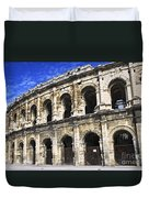 Roman Arena In Nimes France Duvet Cover by Elena Elisseeva