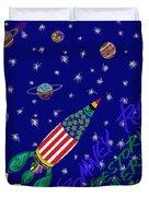 Romney Rocket - Restoring America's Promise Duvet Cover by Robert SORENSEN