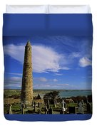 Round Tower, Ardmore, Co Waterford Duvet Cover by The Irish Image Collection