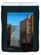 Roxy Theater And Mural Duvet Cover by Ed Gleichman