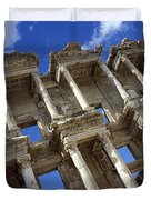 Ruins Of The Great Library At Ephesus Duvet Cover by Axiom Photographic