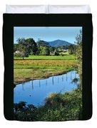 Rural Landscape After Rain Duvet Cover by Kaye Menner