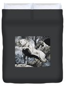 Sabre-toothed Tigers Duvet Cover by Richard Hook