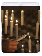Sacrificial Candles 3 Duvet Cover by Heiko Koehrer-Wagner