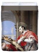Saint Charles Borromeo Duvet Cover by Giovanni Battista Tiepolo