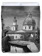 Salzburg Black And White Austria Europe Duvet Cover by Sabine Jacobs