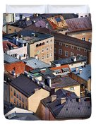 Salzburg's Roofs Austria Europe Duvet Cover by Sabine Jacobs