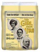 Same Sort Of Girl Duvet Cover by Mel Thompson