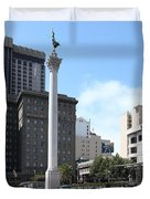 San Francisco - Union Square - 5D17933 Duvet Cover by Wingsdomain Art and Photography