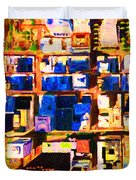 San Francisco Birdseye Abstract . Painterly Duvet Cover by Wingsdomain Art and Photography
