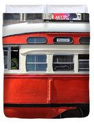 San Francisco Vintage Streetcar On Market Street - 5d18001 Duvet Cover by Wingsdomain Art and Photography