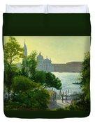 San Giorgio - Venice  Duvet Cover by Timothy Easton