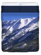 San Juan Mountains Covered In Snow Duvet Cover by Tim Fitzharris