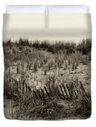 Sand Dune in Sepia Duvet Cover by Bill Cannon