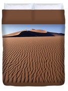 Sand Dunes Against Clear Sky Duvet Cover by Axiom Photographic