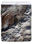 Satellite Image Of Russias Kizimen Duvet Cover by Stocktrek Images