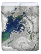 Satellite View Of The Ross Sea Duvet Cover by Stocktrek Images