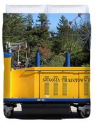Scale Locomotive - Traintown Sonoma California - 5D19237 Duvet Cover by Wingsdomain Art and Photography