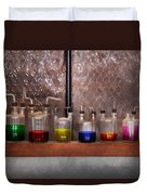 Science - Chemist - Glassware For Couples Duvet Cover by Mike Savad